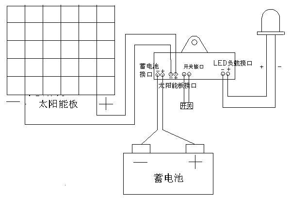 Circuit Diagram of Solar Lawn light .