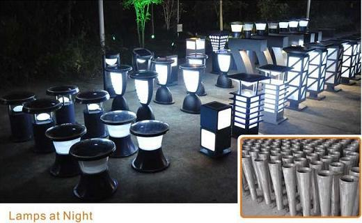 solar led pillar lights